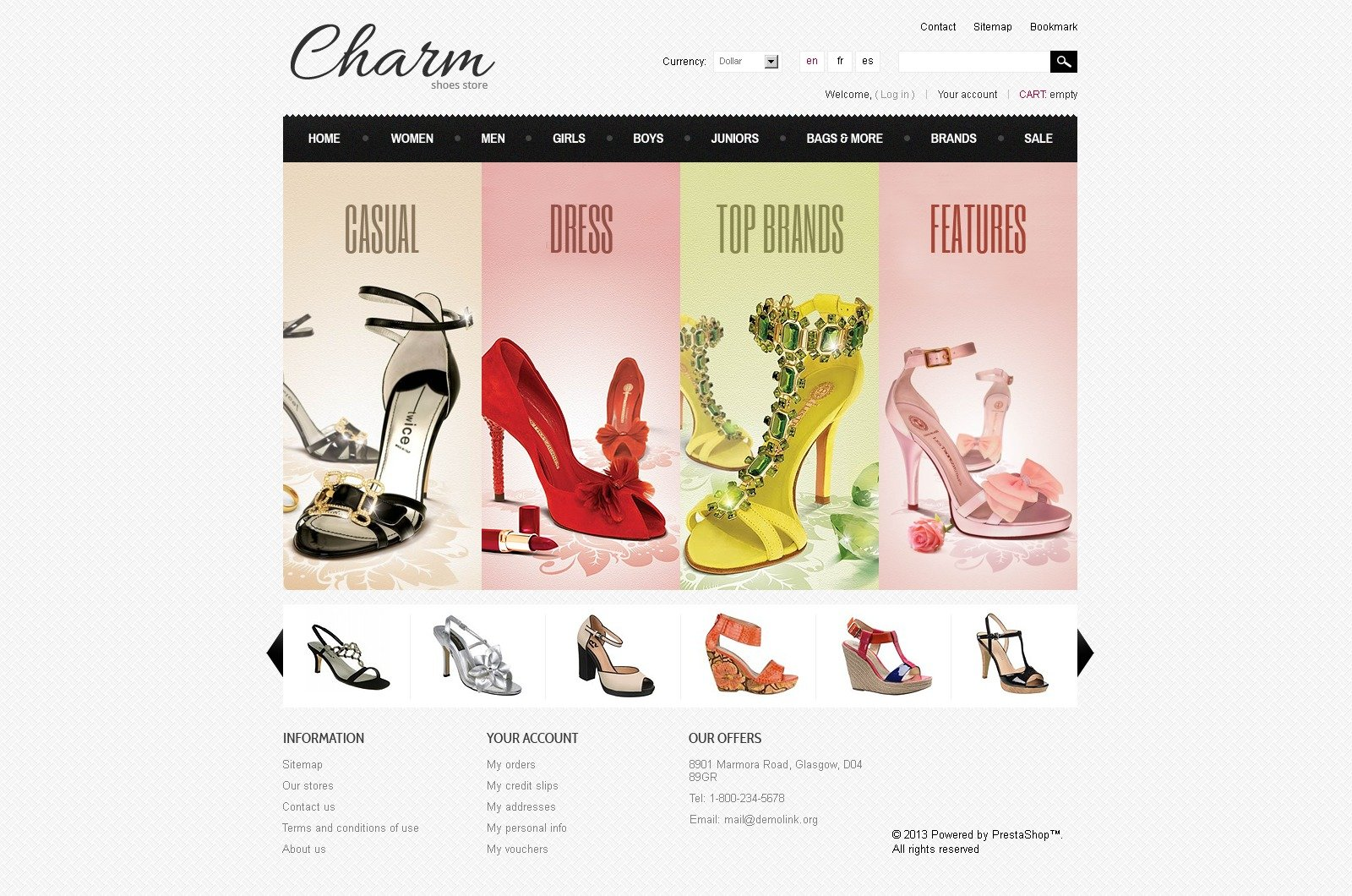 footwear store prestashop theme #43800, Shoe Boutique Powerpoint Presentation Free Template, Presentation templates