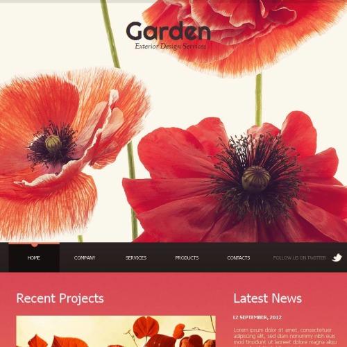 Garden Exterior Design Services - Facebook HTML CMS Template