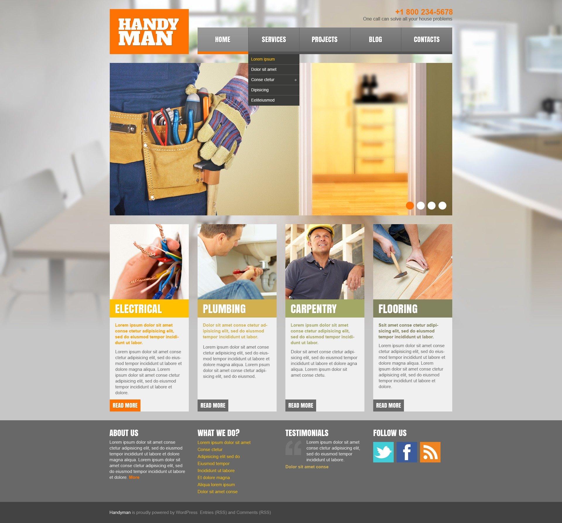 Home Repairs Responsive WordPress Theme
