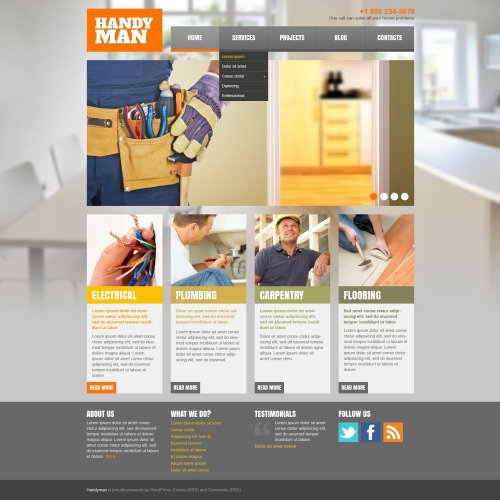 Handy Man - WordPress Template based on Bootstrap