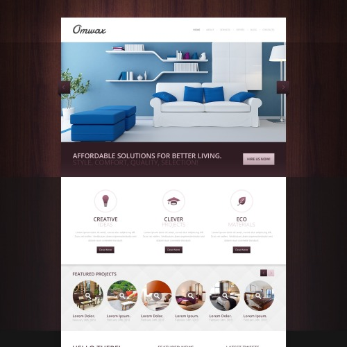 Omwax - Responsive Drupal Template