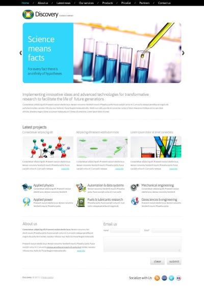 Science Moto CMS HTML šablona