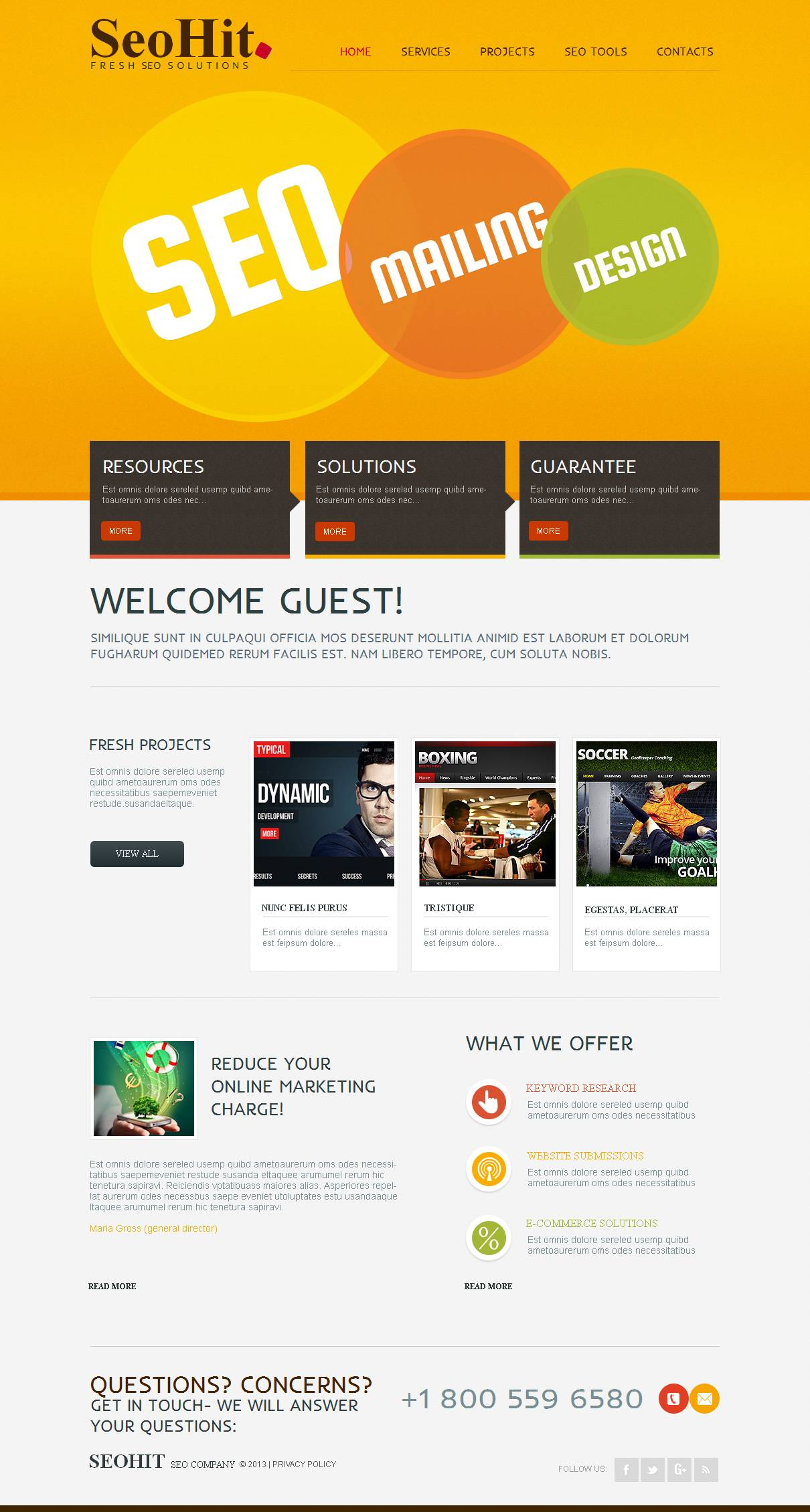 Moto CMS HTML Vorlage für SEO Website #43818 - Screenshot