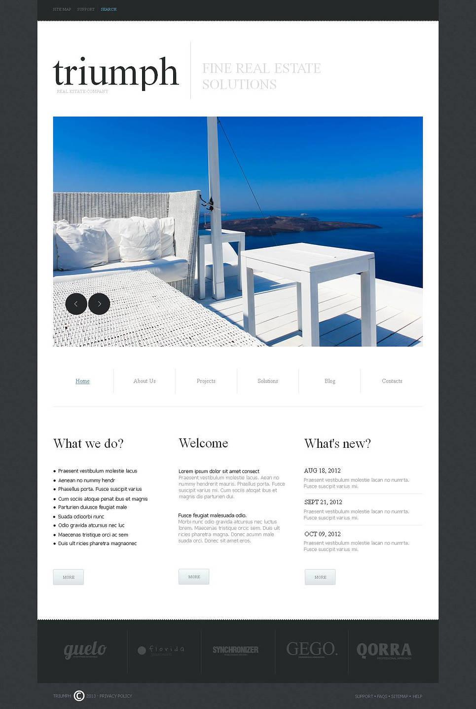 Real Estate Agency Moto CMS HTML Template New Screenshots BIG