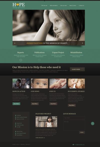 Charity Responsive Weboldal Sablon