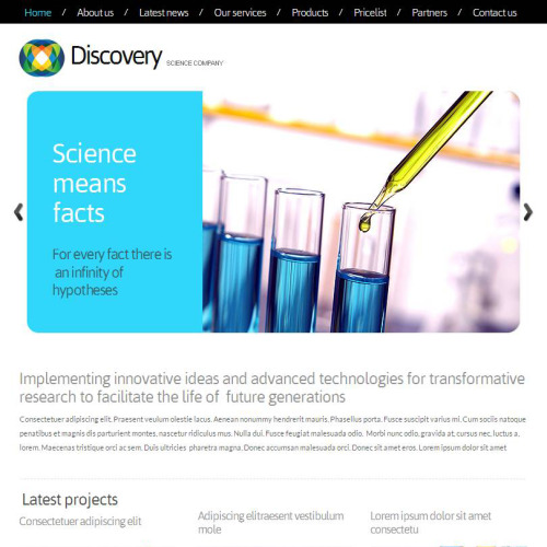 Discovery - Facebook HTML CMS Template