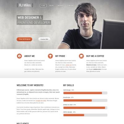 Tema de WordPress #43885 para Sitio de Portafolios de diseñadores
