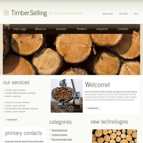Timber .Selling - Facebook HTML CMS Template