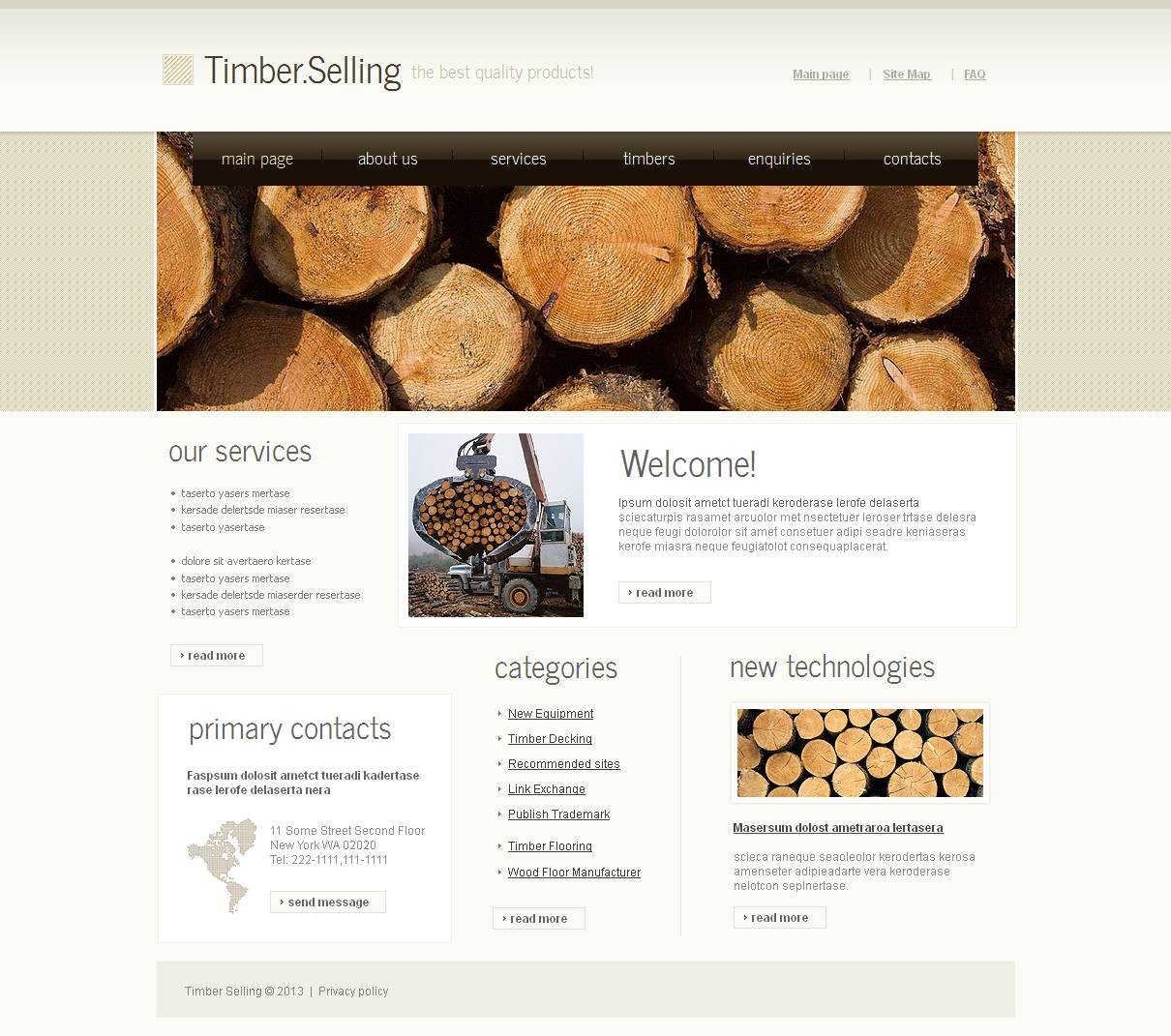 Timber Moto CMS HTML Template