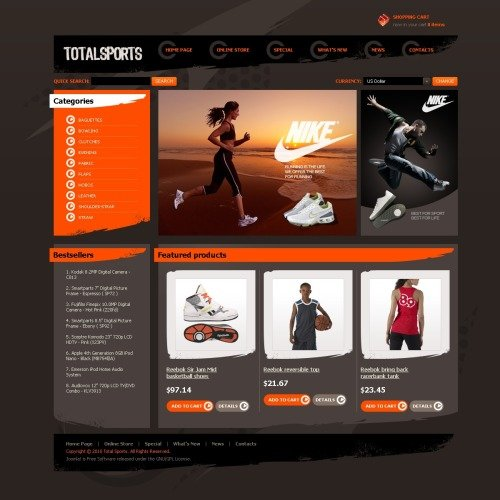 Total Sports - VirtueMart Template