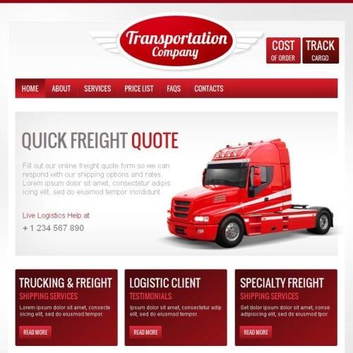 Transportation Company - Facebook HTML CMS Template