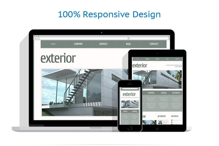 Exterior design joomla template 43902 for Exterior design templates