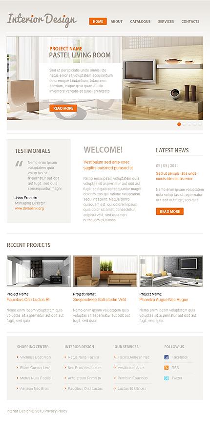 ADOBE Photoshop Template 43906 Home Page Screenshot