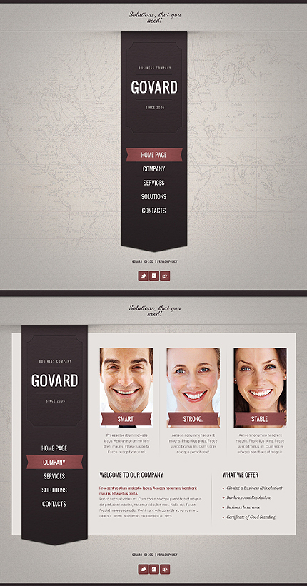 ADOBE Photoshop Template 43909 Home Page Screenshot