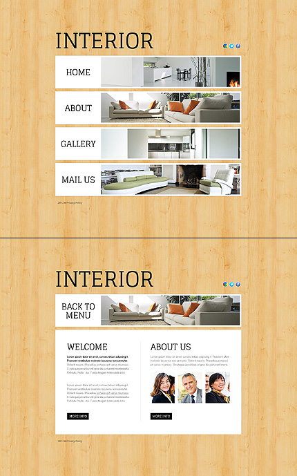 ADOBE Photoshop Template 43910 Home Page Screenshot