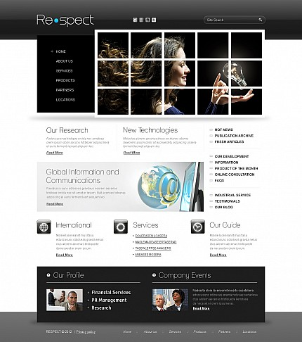 ADOBE Photoshop Template 43911 Home Page Screenshot