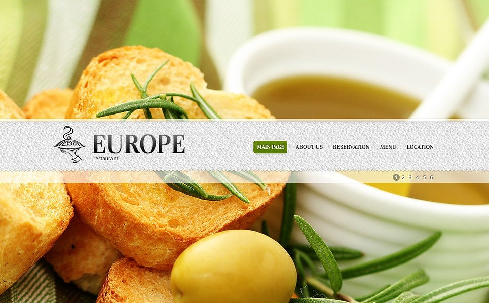 Premium European Restaurant Templates Flash Cms Şablon New Screenshots BIG