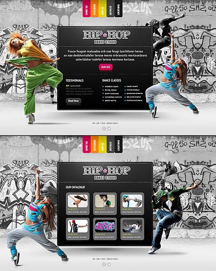ADOBE Photoshop Template 43913 Home Page Screenshot