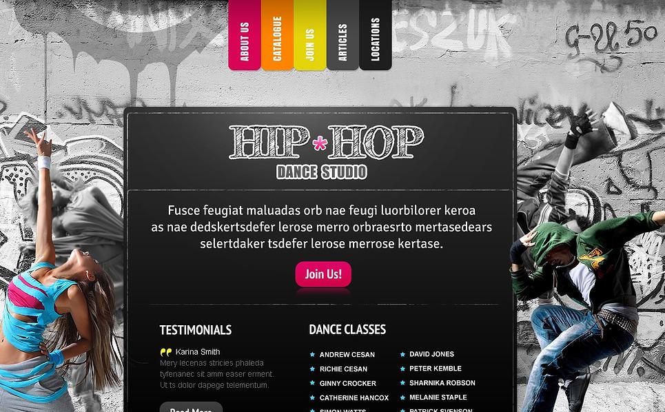 Szablon Flash CMS #43913 na temat: szkoła tańca New Screenshots BIG