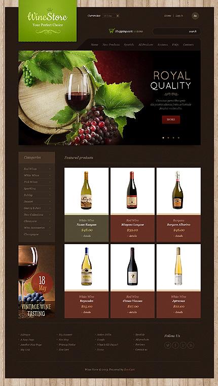 ZenCart Template 43916 Main Page Screenshot