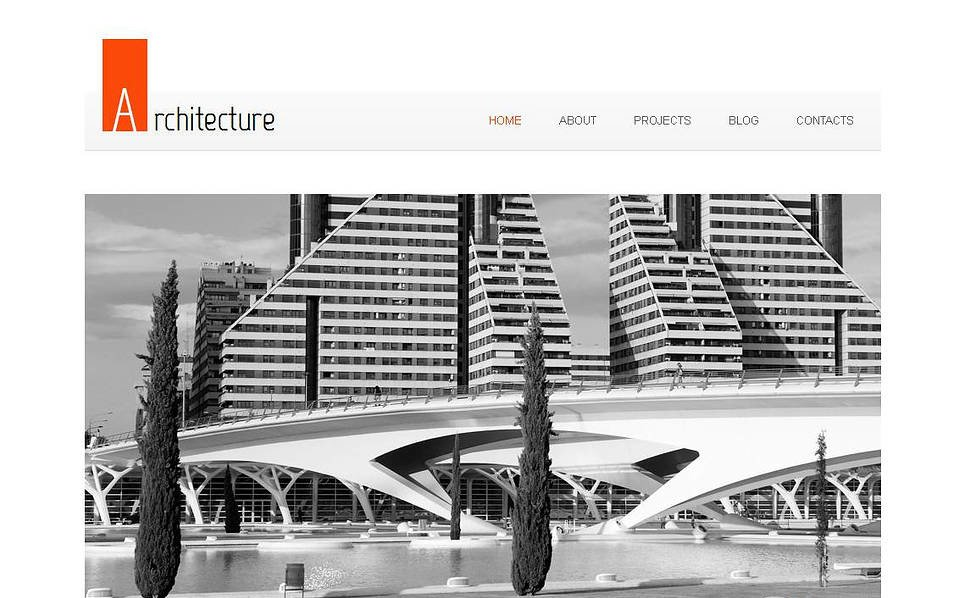 Modèle Moto CMS HTML  pour site d'architecture New Screenshots BIG