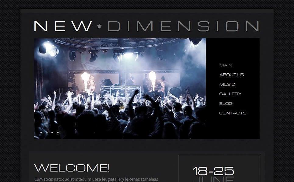 Premium Moto CMS HTML Template over Muziekgroup  New Screenshots BIG