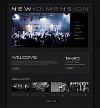 Music Moto CMS HTML  Template 43920