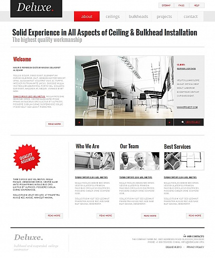 ADOBE Photoshop Template 43921 Home Page Screenshot