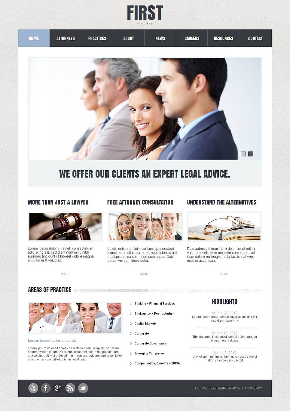Law Office Website Template with Clean Design - image