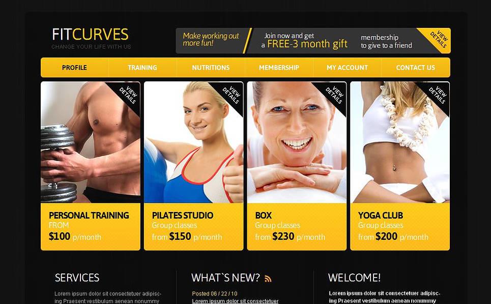 Szablon Moto CMS HTML #43928 na temat: fitness New Screenshots BIG