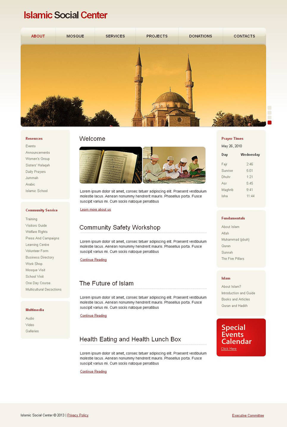 Islam Religion Website Template - image
