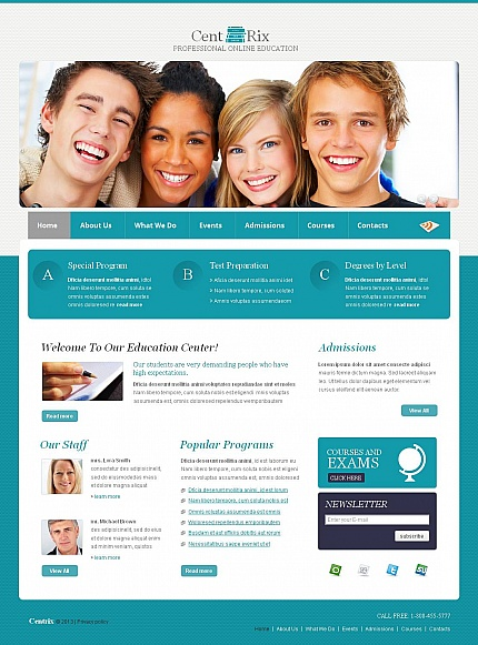 ADOBE Photoshop Template 43935 Home Page Screenshot