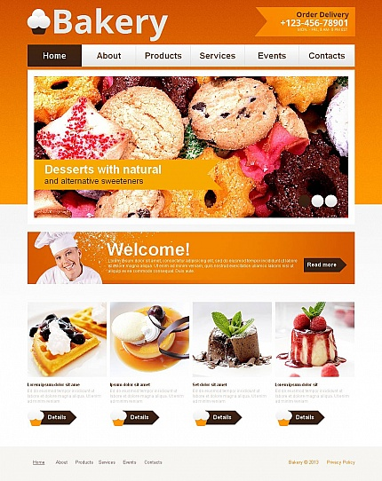 ADOBE Photoshop Template 43936 Home Page Screenshot