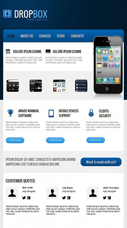 ADOBE Photoshop Template 43944 Home Page Screenshot