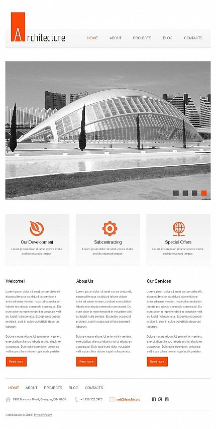 ADOBE Photoshop Template 43947 Home Page Screenshot