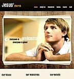 Religious Facebook HTML CMS  Template 43953