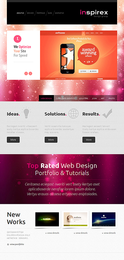 WordPress Theme/Template 43967 Main Page Screenshot