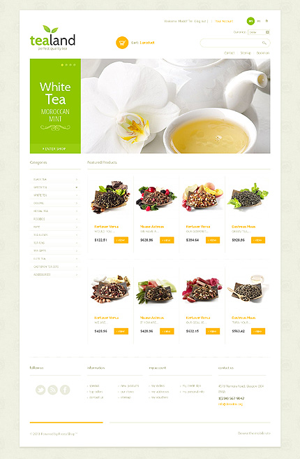 ADOBE Photoshop Template 43976 Home Page Screenshot