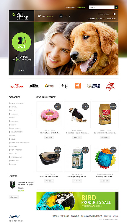 ADOBE Photoshop Template 43977 Home Page Screenshot