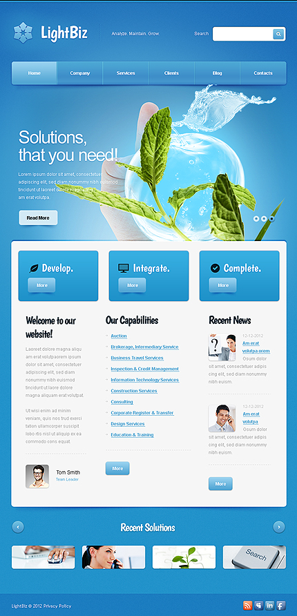 ADOBE Photoshop Template 43983 Home Page Screenshot