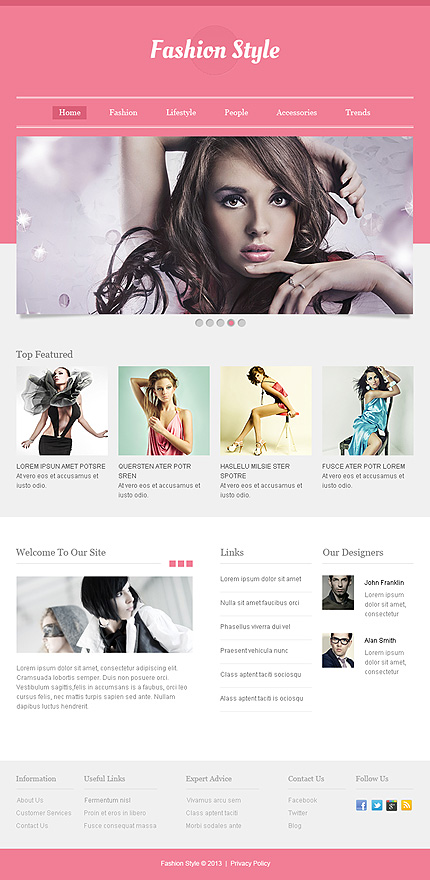 ADOBE Photoshop Template 43985 Home Page Screenshot