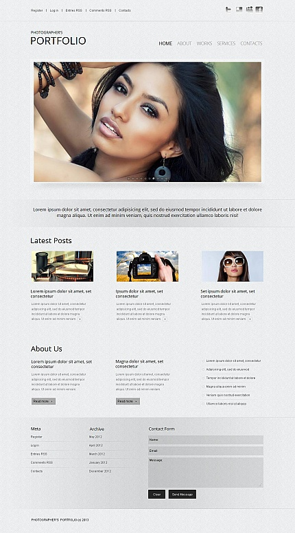 ADOBE Photoshop Template 43988 Home Page Screenshot