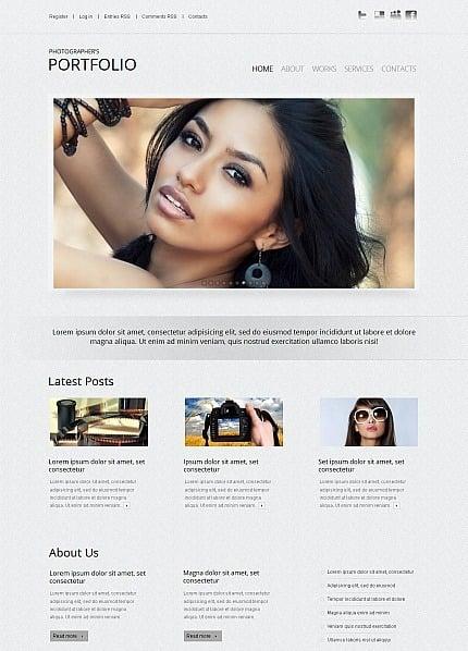 Fotogalerie Vorlage für Fotografen Portfolio  MotoCMS