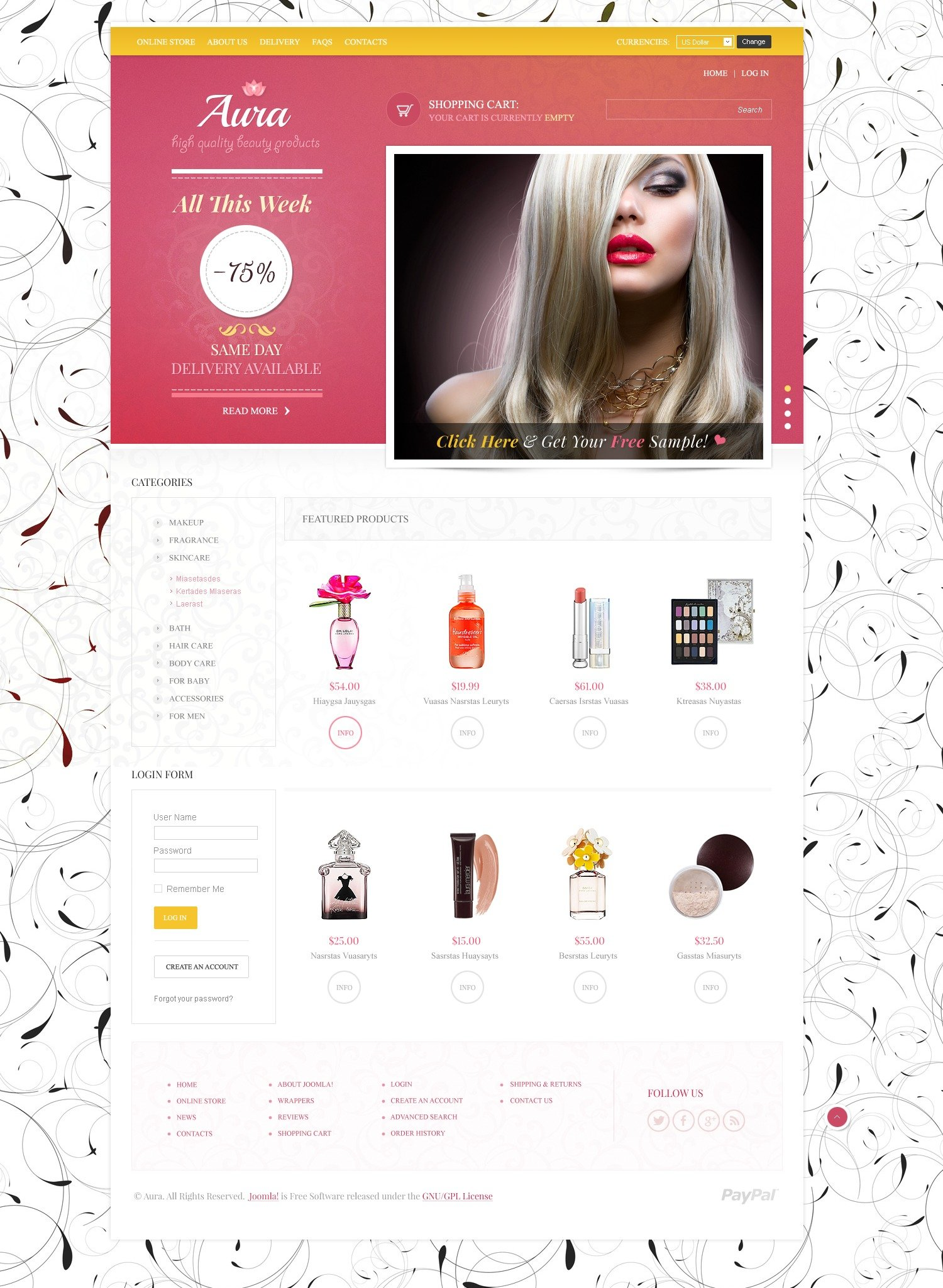 Beauty Store VirtueMart Template