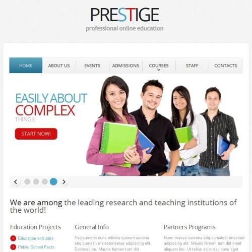 Prestige - Facebook HTML CMS Template