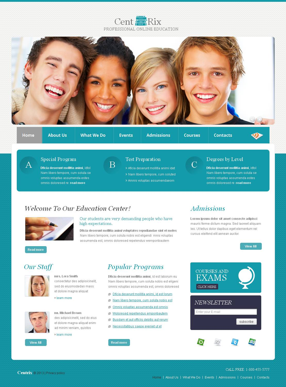 Career Education Moto CMS HTML Template - screenshot