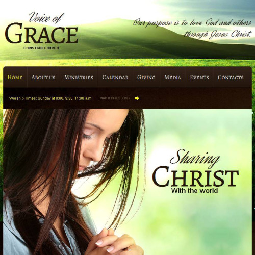 Voice Of Grace - Facebook HTML CMS Template