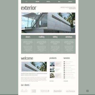 18 best exterior design joomla templates for Exterior design templates