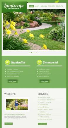 Landscape Design Facebook Html Cms Templates