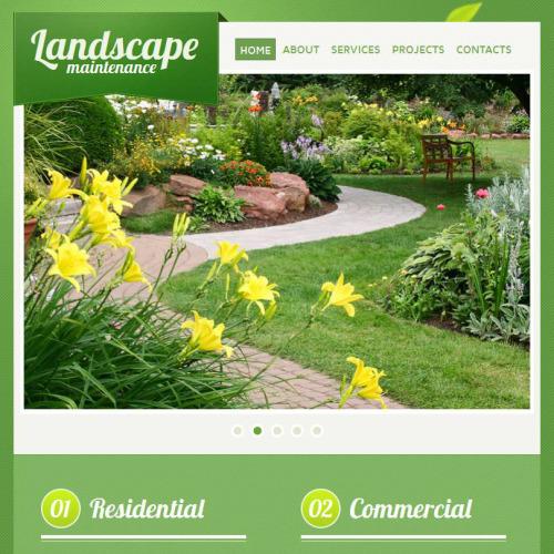 Landscape Maintenance - Facebook HTML CMS Template